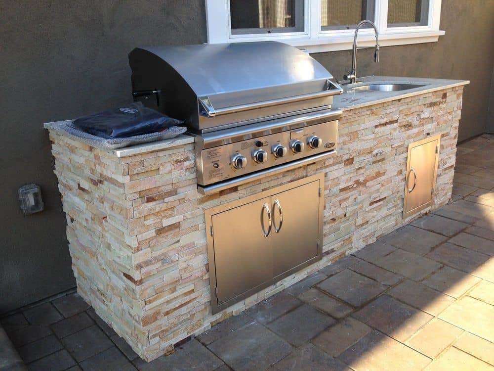 Granite Charcoal Grill at home